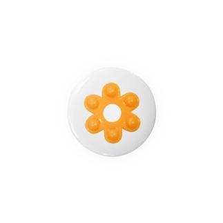 昭和な花はじき*オレンジ Badges