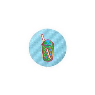 地球クリームソーダ 缶バッジ
