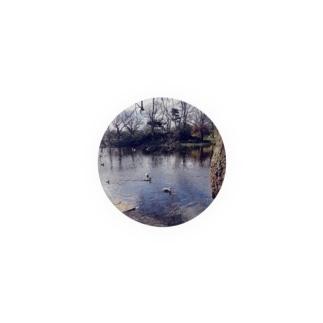 池と鳥 Badges