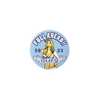 チャリティー【FULLAHEAD呉!GO!5!】44mmバッジ Badges