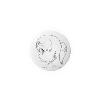 女の子の横顔[モノクロ] Badges