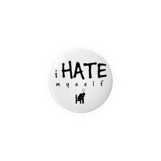 i HATE myself [Black] 缶バッジ