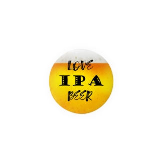 love IPA beer ver2 缶バッジ