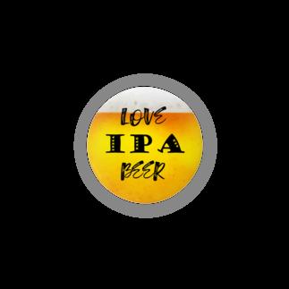 8garage SUZURI SHOPのlove IPA beer ver2 缶バッジ
