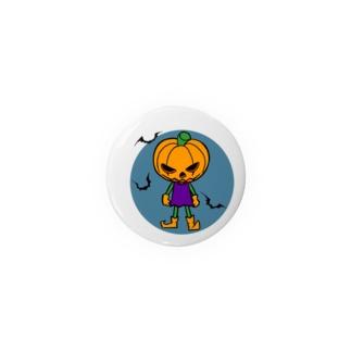 ハロウィンかぼちゃボーイ 缶バッジ