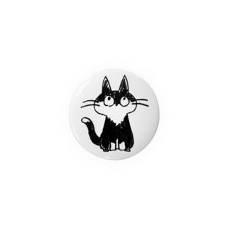 猫 缶バッジ