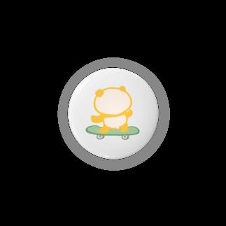 ぱんだ丸ショップの[誰がシリーズ]スケボーパンダ Badges