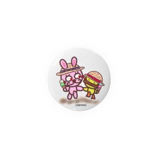うさぴよ💛アイスクリーム Badges