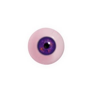 【44mm用】目ン玉ばっぢ (橙in紫) Badges