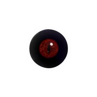 【44mm用】目ン玉ばっぢ (黒赤) Badges