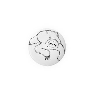 sloth なまけもの(w/b) 缶バッジ
