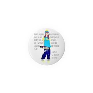 sk8er☆GIRL Kathy Badges