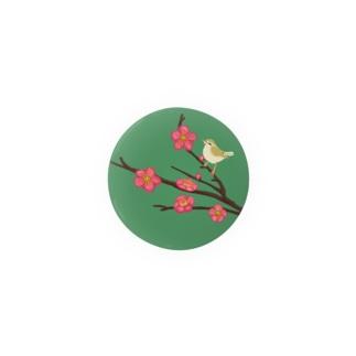 梅犬の花と鶯 Badges