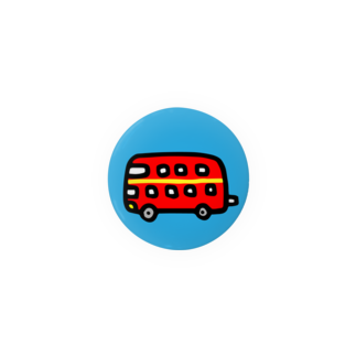 FUKUFUKU=:DESIGNのロンドンにあこがれるばす Badges