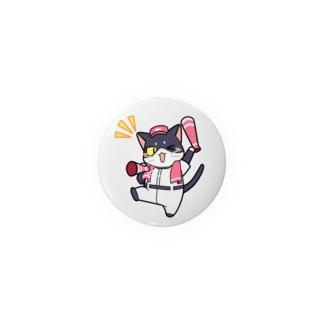 野球にゃんこ Badges