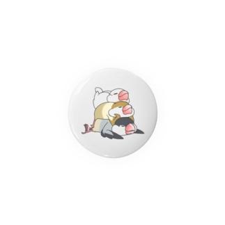 文鳥のスタンプ Tin Badge