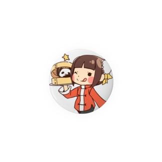 チャイナガール&パンダ Badges