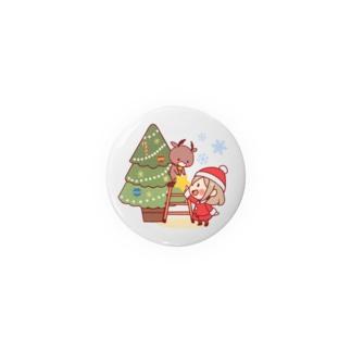 サンタガール&トナカイ Badges