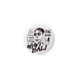 WIWIBALI ロゴマークグッツ!缶バッジ Badges