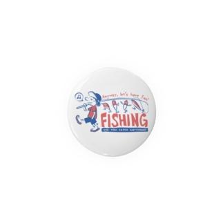 釣りをとにかく楽しもう!_レトロ Badges