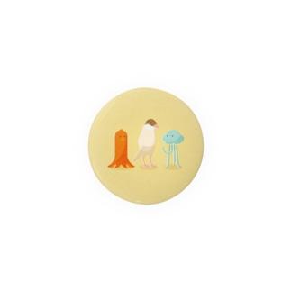 細長い仲間たち シナモン文鳥 Badges