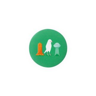 細長い仲間たち 白文鳥 Badges