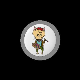 tottoのおじさまネコ(絵描き/色付き) Badges