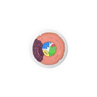 ドーナツの穴から覗いてる Badges