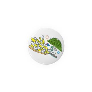 楽園の住人(シカとヘビ)な缶バッジ・44mm Badges