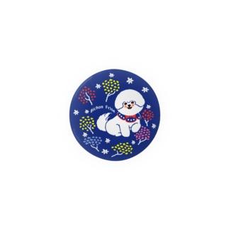 ビションフリーゼ:イルミネーションツリー Badges