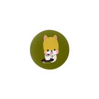 今日のおやつシリーズ ヤマトとほうじ茶プリン Badges