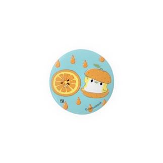 オレンジと ことり缶バッジ/green Badges