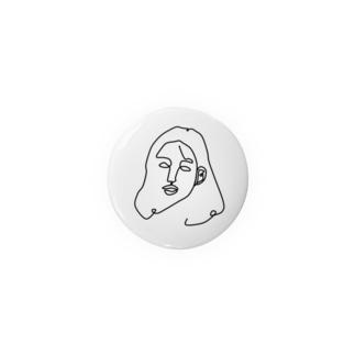 一筆書き woman Badges