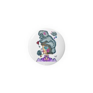 maimaice_creamのトイプードルガール Badges