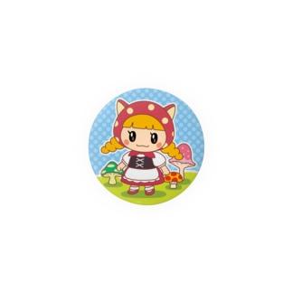水玉ネコ耳ずきんちゃんとおおかみちゃん Badges