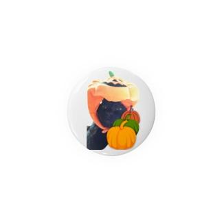 黒猫とハロウィン☆胡乱な南瓜 Badges