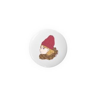 赤ニット帽 Badges
