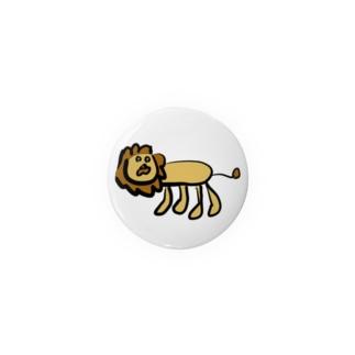 多分ライオンの缶バッジ Badges