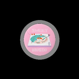 ぷんつくりーのドーナツ盤はあまい音楽を Badges