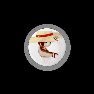 甕邨(ようそん)の帽子の少女 Badges