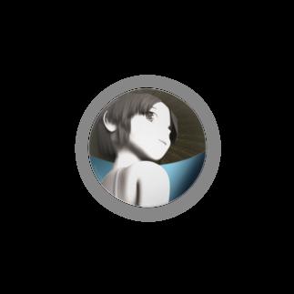 甕邨(ようそん)の帽子の少女 3D Badges