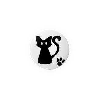 安定感企画 イラスト編No.1 黒猫 Badges