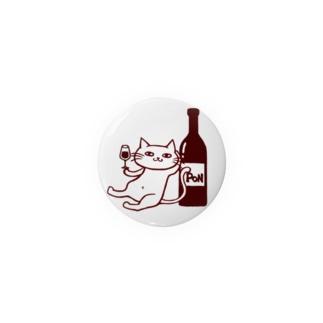 ワインスタンドポンのポンちゃん Badges