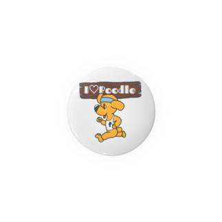 I Love Poodle(ランニングプードル) Badges