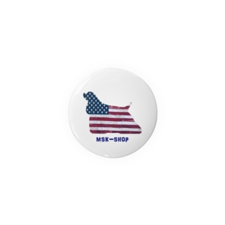 星条旗deアメコカシルエット Badges