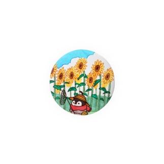 ひまわり畑と焼きペン  Badges