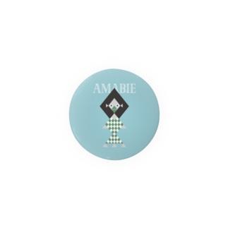 幾何学アマビエさま 44mm Badges