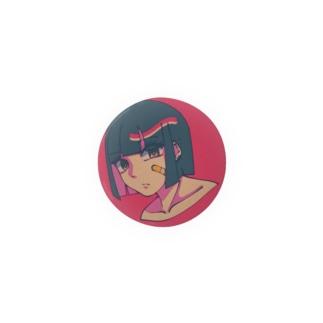Girl 絆創膏 ピンク Badges
