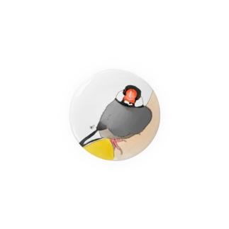 寄り添い桜文鳥 Badges