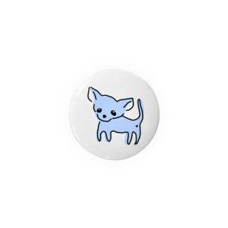ゆるチワワ(ブルー) Badges